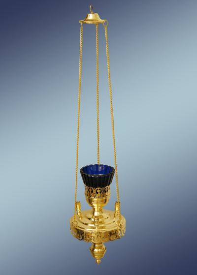 Лампада из латуни подвесная