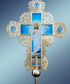 Православный крест латунный