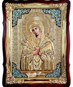Икона Семистрельная Богородицы в ризе