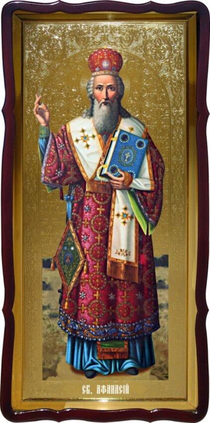 Икона ростовая Св. Афанасий