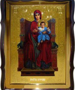 Пр. Богородица ца на троне икона