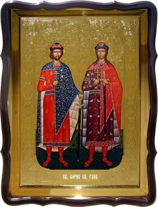 Икона Св. Борис и Св. Глеб (ростовые)