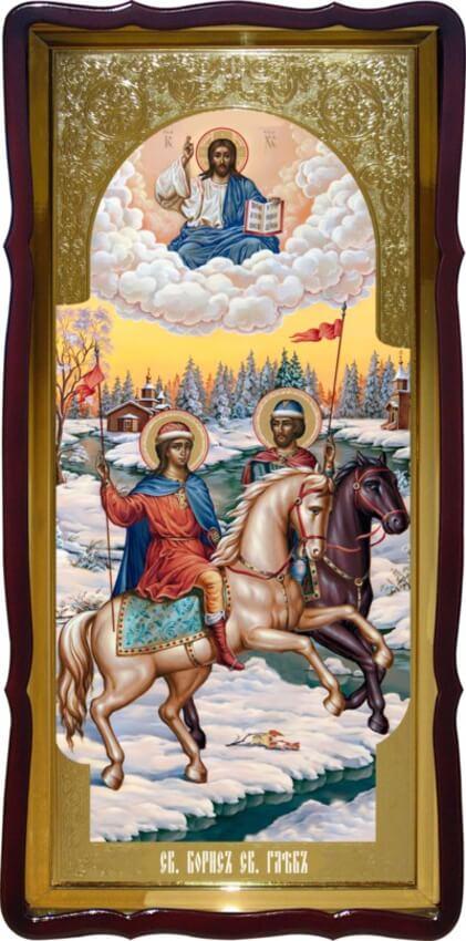 Икона Св. Борис и Св. Глеб