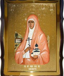 Икона в фигурном киоте Св. Елизавета