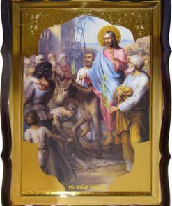 Вход Господен в Иерусалим икона