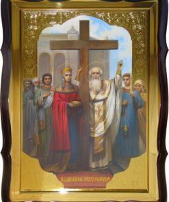 Воздвижение Креста Господне икона