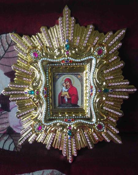 Икона спускная Богородицы
