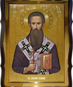 Икона Св. Василий Великий поясная