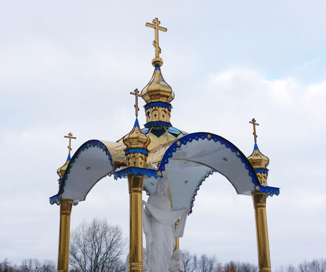 Купола и крыша из нитрид титана