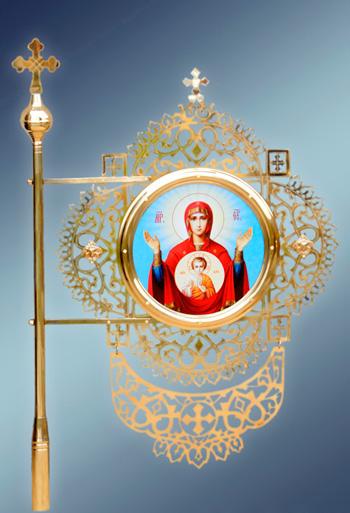 Хоругвь с изображением святой Богоматери