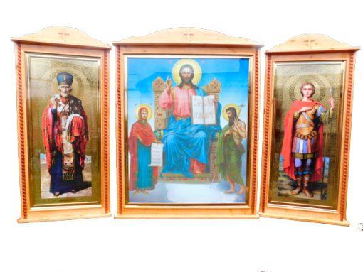 Деревянный киот для иконы (комплект)