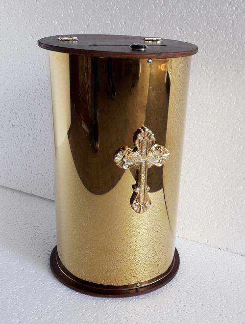 Копилка круглая из метала (булат)