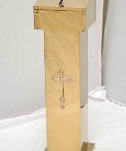 Копилка церковная латунная