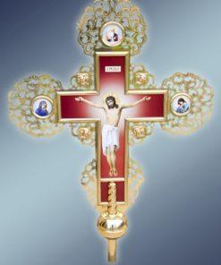 Крест с иконой большой из латуни