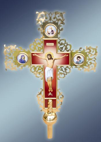 Крест выносной латунный малый