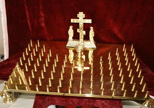Крышка панихидного стола на 120 свечей
