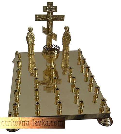 Крышка панихидного стола на 24 свечи