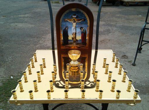 Крышка панихидного стола на 38 свечей