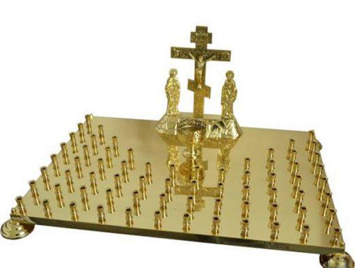 Крышка панихидного стола на 68 свечей