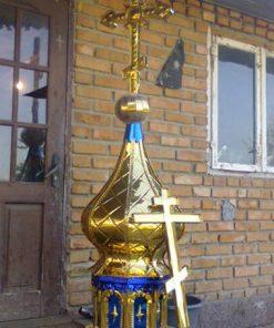 Купол храма с фигурным крестом булат