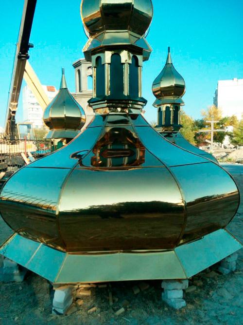 Изготовление куполов на месте у заказчика