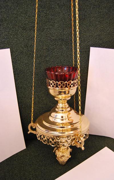 Лампада малая подвесная для храма