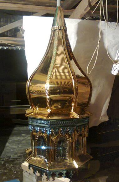 Луковица купол храма из нитрида титана
