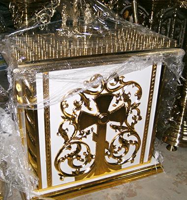 Панихидный стол с золочением