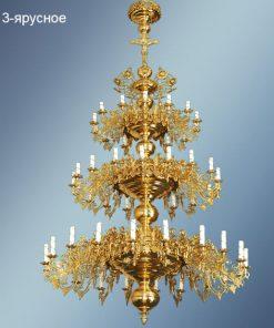 Потолочные люстры - паникадила на 52 свечи
