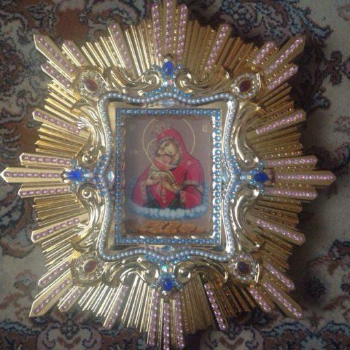 Почаевская Богородица риза 47х51см
