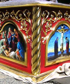 Церковная утварь и резные престолы