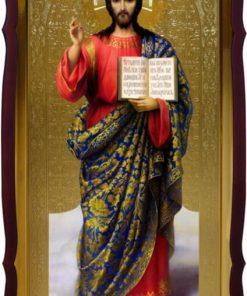 Икона Христа Спасителя ростовая 120x60