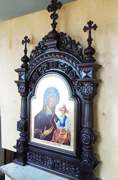 Старинный киот для иконы церковной