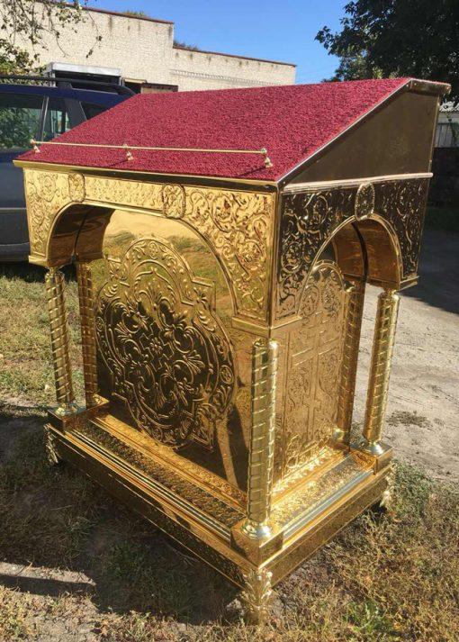 Аналой с чеканкой и православные товары