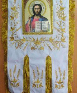 Вышитые иконы и хоругви церковные