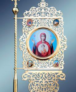 Церковная утварь и хоругвы из латуни